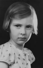 Eva Schloss is photographed as a child.