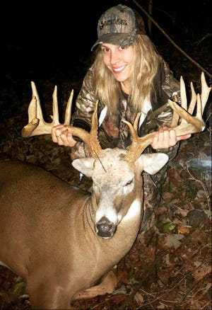 Ashley Gaines of Old Hickory harvested this 16-point deer last week.