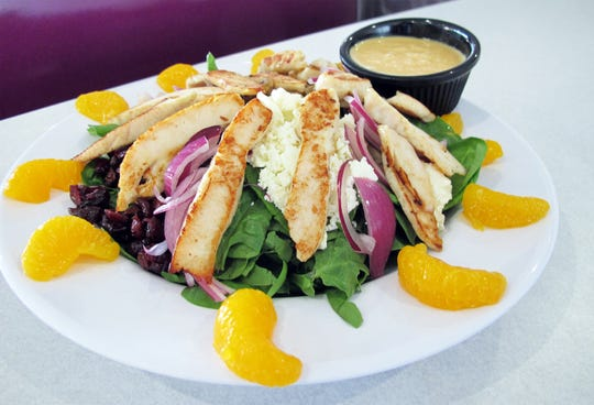 Afternoon Delight is one of the favorite salads at LuLu B's Diner, which recently opened in Green Tree Center at Airport-Pulling and Immokalee roads in North Naples.