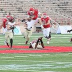 Barron Collier alum David D'Amelio (61) helped Cornell run all over Harvard's top-ranked rushing defense during Saturday's home upset win.
