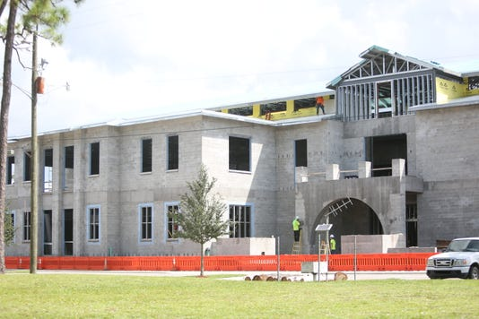 Bonita Springs Library construction