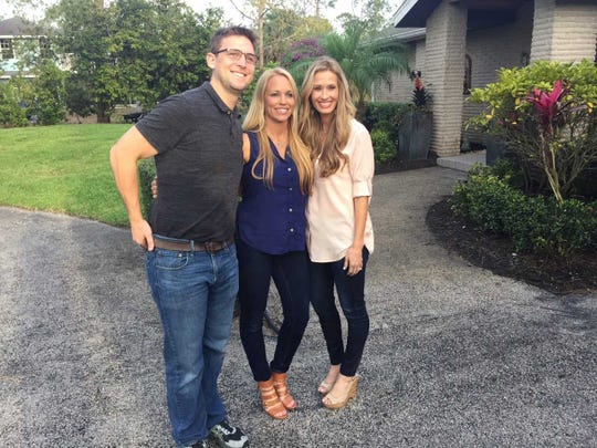 "Katie Werchek, center, and her fiance, Anthony Lober, left, are in search of a home in a Monday, Oct. 15, episode of ""House Hunters"" airing on HGTV. She has the help of her friend and partner Heather Caine, right, who's been featured on the show several times."