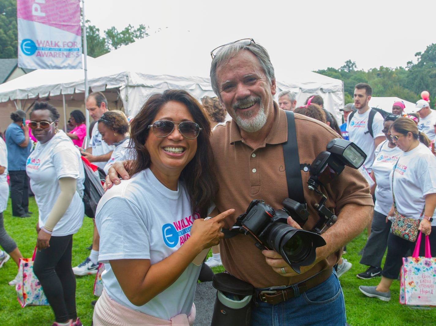 Nina Pineda and Chris Marksbury. Englewood Health Foundation hosted its 2018 Walk for Awareness and Susan Lucianna Memorial Dog Walk dedicated in memory of Walk for Awareness co-founder Paul Fader, Esq. 10/07/2018