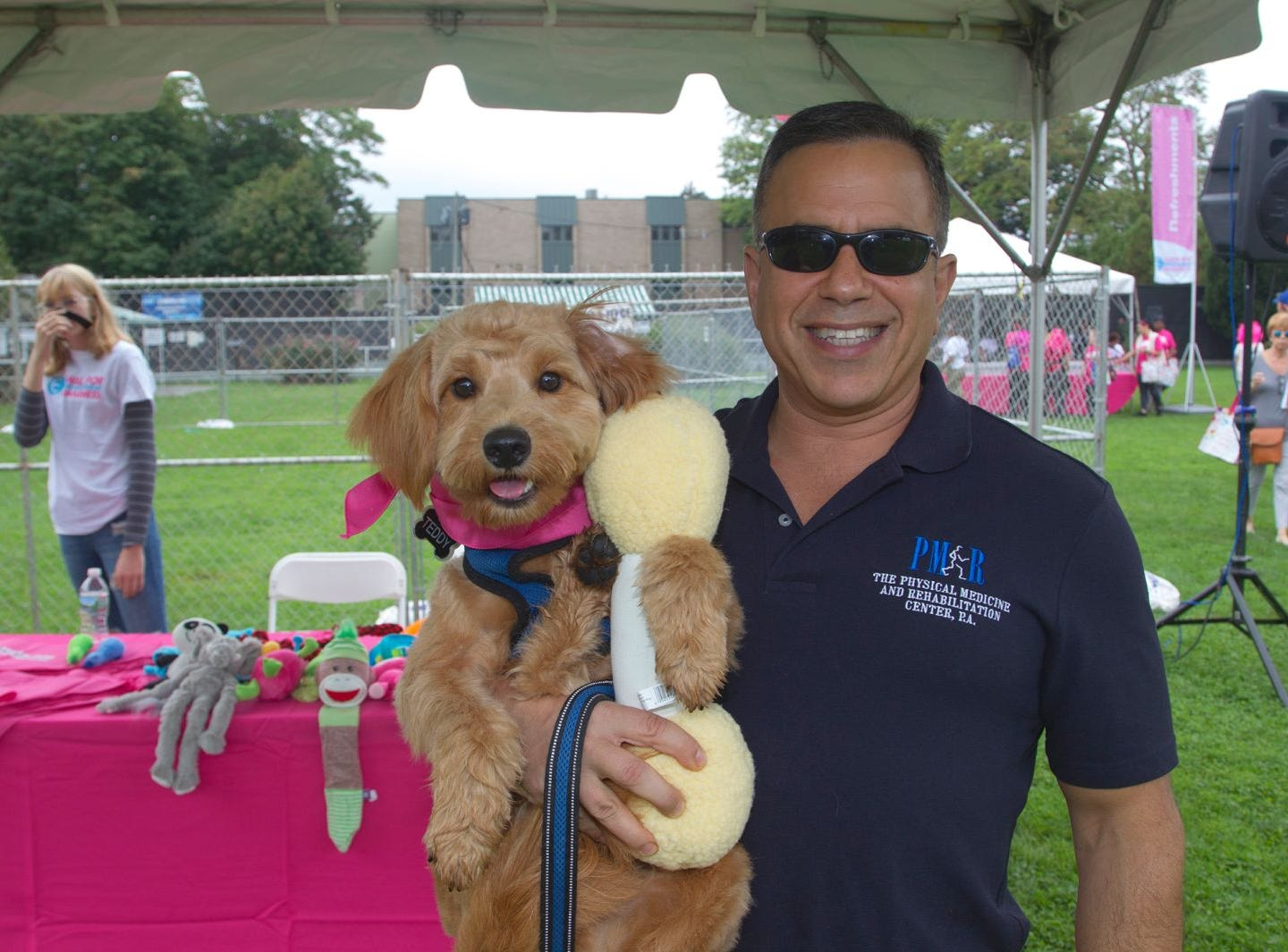 Teddy and Dr. Jeff Pabell. Englewood Health Foundation hosted its 2018 Walk for Awareness and Susan Lucianna Memorial Dog Walk dedicated in memory of Walk for Awareness co-founder Paul Fader, Esq. 10/07/2018