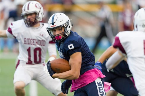 Paramus running back Kyle Jacob has helped the Spartans to the top of the scoring offense list in North Jersey.