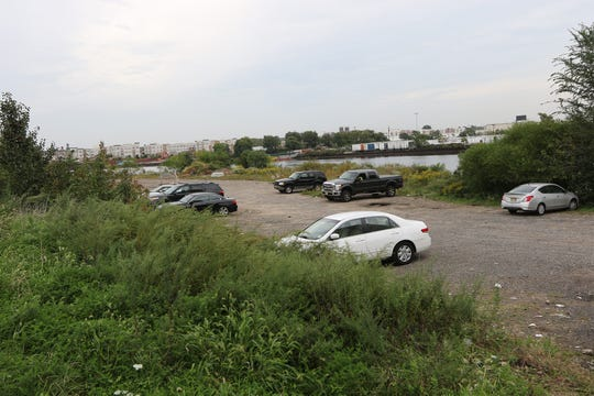This strip of land along the Passaic River in Newark, near the intersection of McCarter Highway and Centre Place,  could be a future home of Amazon's new headqaurters.