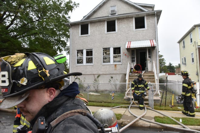 Firefighters from surrounding towns responded to a 2nd Alarm fire at a home on Humphrey St in Englewood Monday on October 8, 2018.