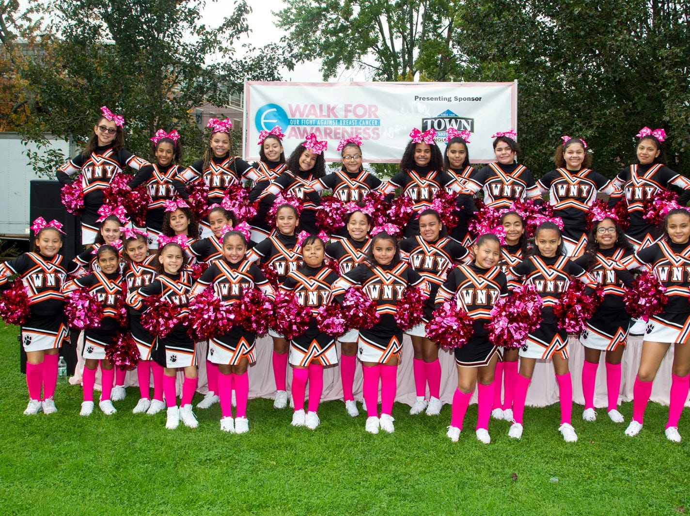 West New York Cheerleaders. Englewood Health Foundation hosted its 2018 Walk for Awareness and Susan Lucianna Memorial Dog Walk dedicated in memory of Walk for Awareness co-founder Paul Fader, Esq. 10/07/2018