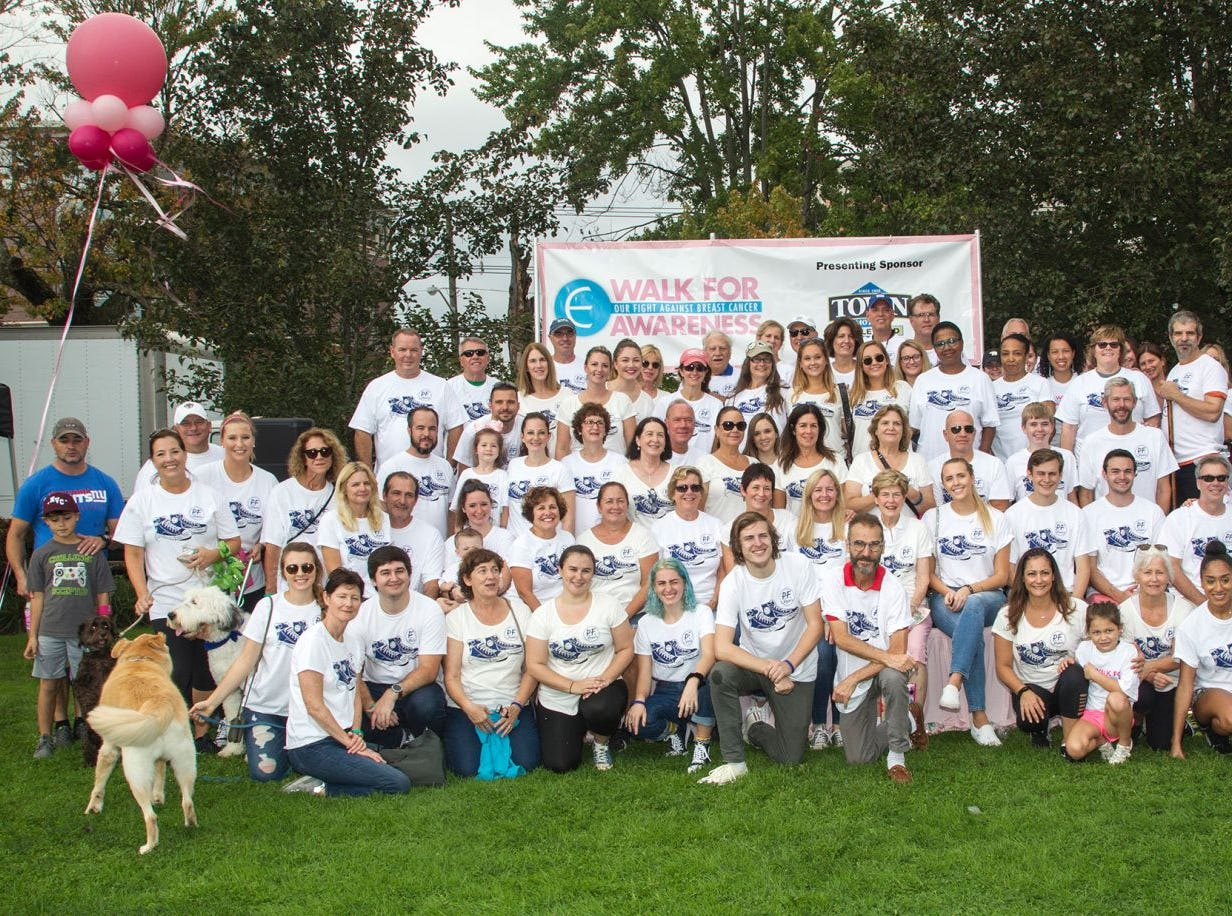 PF Flyer Team for Paul Fader. Englewood Health Foundation hosted its 2018 Walk for Awareness and Susan Lucianna Memorial Dog Walk dedicated in memory of Walk for Awareness co-founder Paul Fader, Esq. 10/07/2018