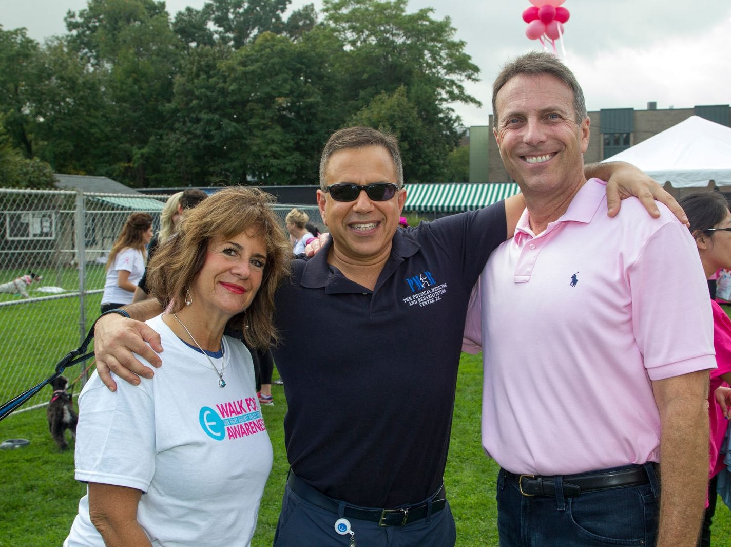Peggy DelVilla, Dr. Jeff Pabell, Jay Nadel. Englewood Health Foundation hosted its 2018 Walk for Awareness and Susan Lucianna Memorial Dog Walk dedicated in memory of Walk for Awareness co-founder Paul Fader, Esq. 10/07/2018
