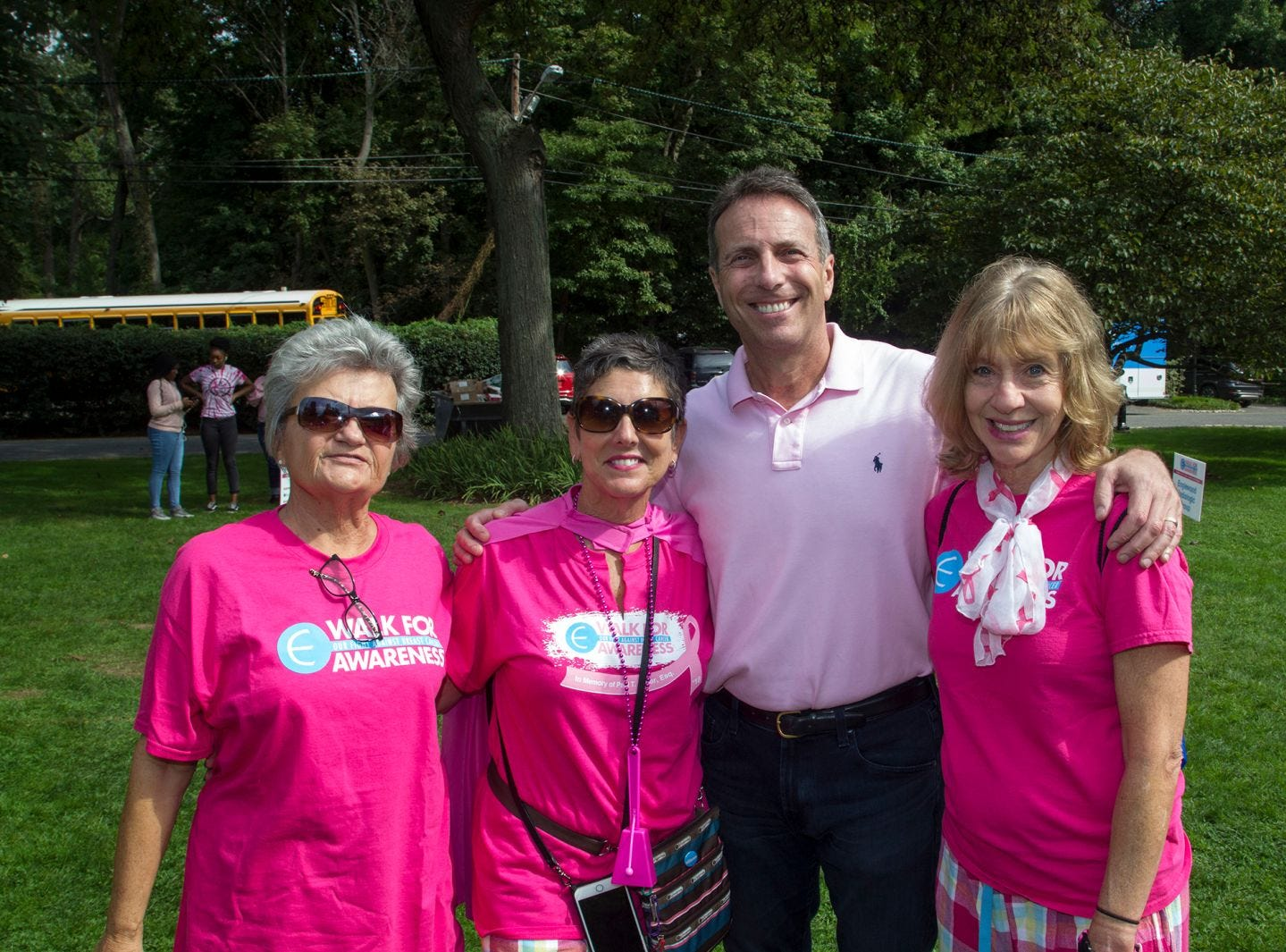 Florence Savage, Eileen Tucker, Jay Nadel, Joni Sweetwood. Englewood Health Foundation hosted its 2018 Walk for Awareness and Susan Lucianna Memorial Dog Walk dedicated in memory of Walk for Awareness co-founder Paul Fader, Esq. 10/07/2018