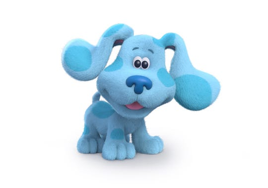 "The puppy Blue returns to the small screen as ""Blue's Clues & You,"" is currently in production."