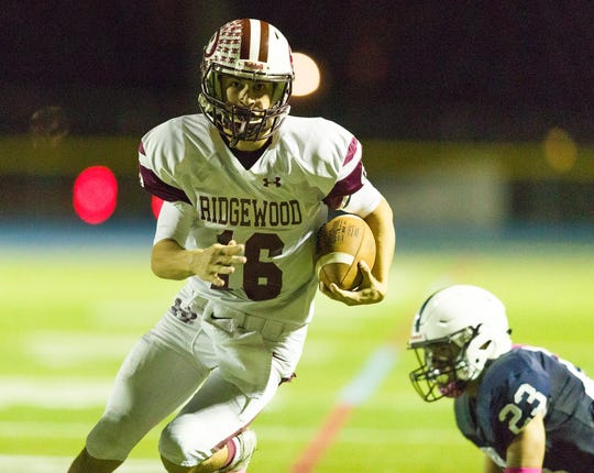 Ridgewood's Will Mollihan completed 15 of 24 passes for 265 yards and three touchdowns against Paramus.