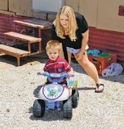 Nikki Martin with son Hunter.