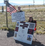 Tularosa Basin Downwinders were outside the gates of White Sands Missile Range for the duration of the Trinity Site open house.