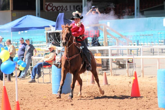 Mounted shooting competition draws large crowds as the competitors shoot it out for the highest score at the Lincoln County Cowboy Symposium 2017.