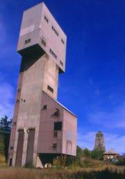 The main iron mine shaft in Ishpeming, Michigan.