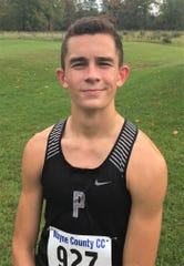Plymouth junior Carter Solomon was the Wayne County Invitational individual champion with a 5,000-meter time of 15:09.2.