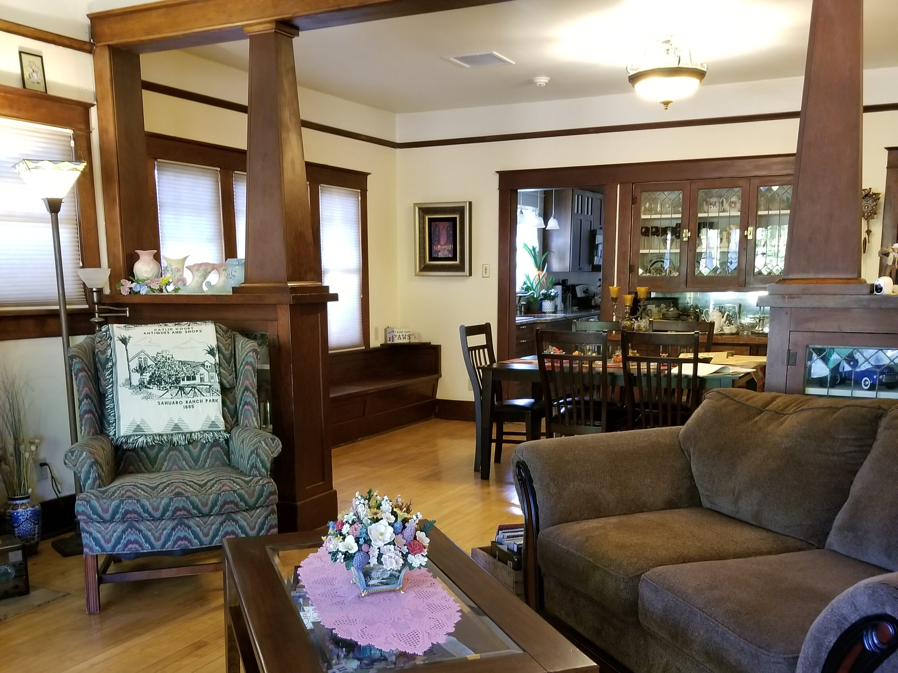 The living room, dining room and parlor still have their original hardwood floors.
