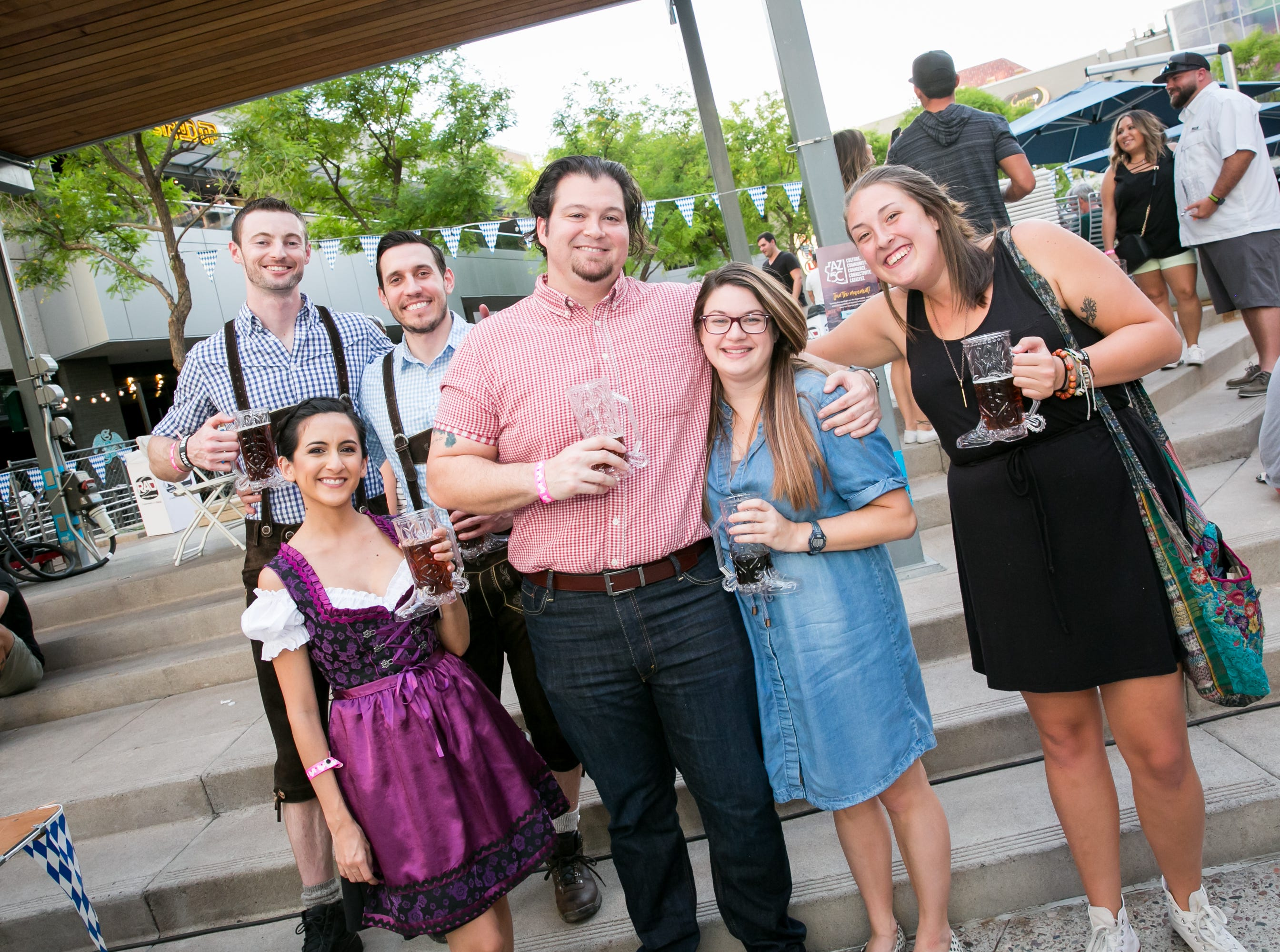 These pals had a lovely time during Downtown Phoenix Oktoberfest at CityScape on Saturday, October 6, 2018.