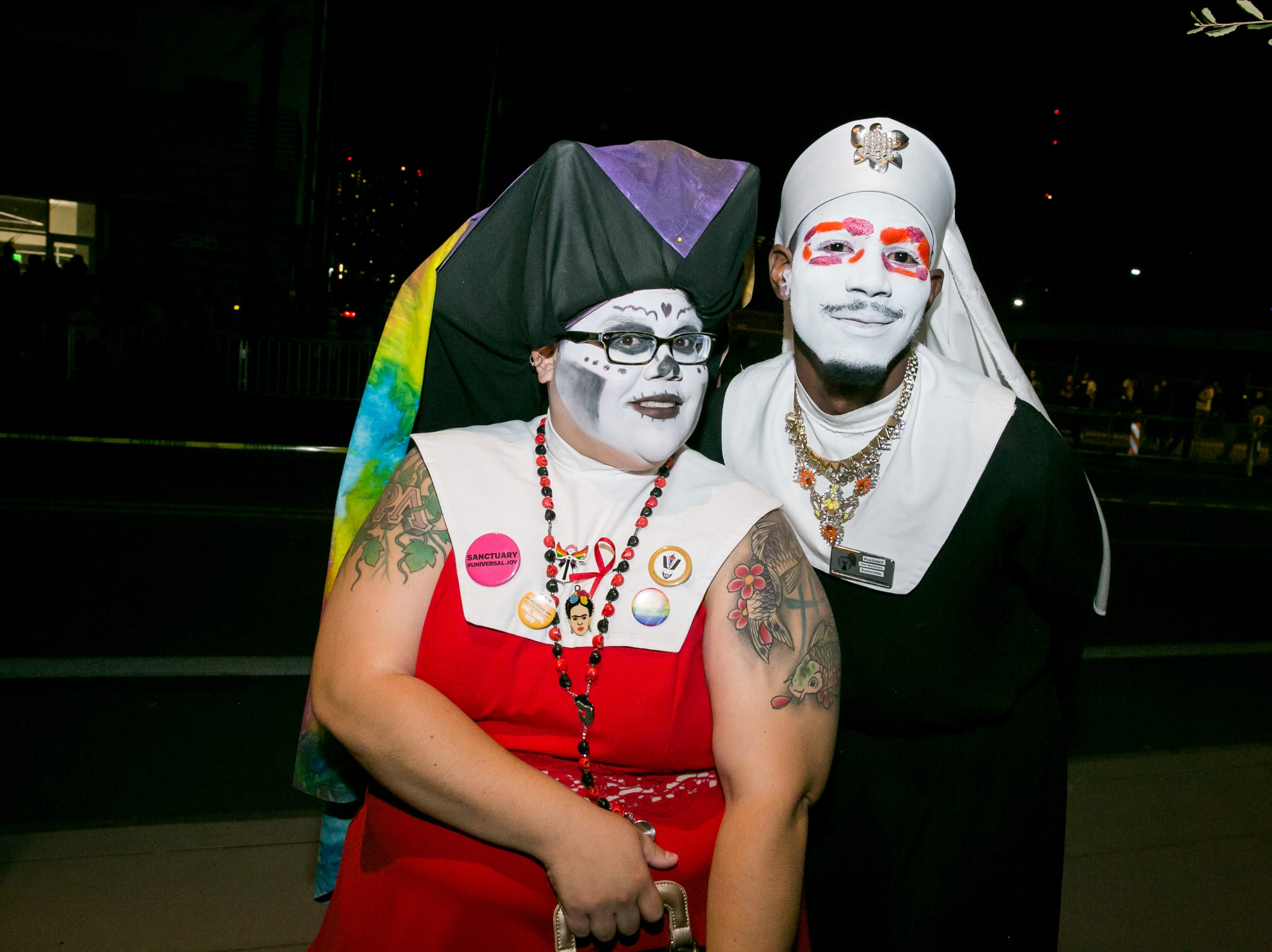 The Sisters of Perpetual Indulgence waltzed down Roosevelt Row during First Friday on October 5, 2018.