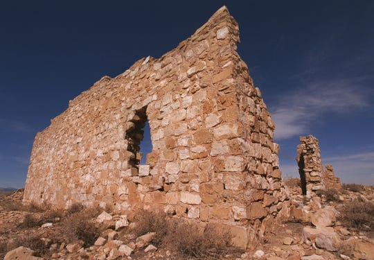 The remains of the Canyon Diablo trading post, which was destroyed by fire in the 1930s.  The ghost town sits at the end of a primitive road that is not maintained.