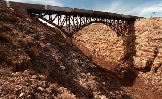 The bridge that now spans Canyon Diablo is wide enough for two tracks and meets modern safety standards.