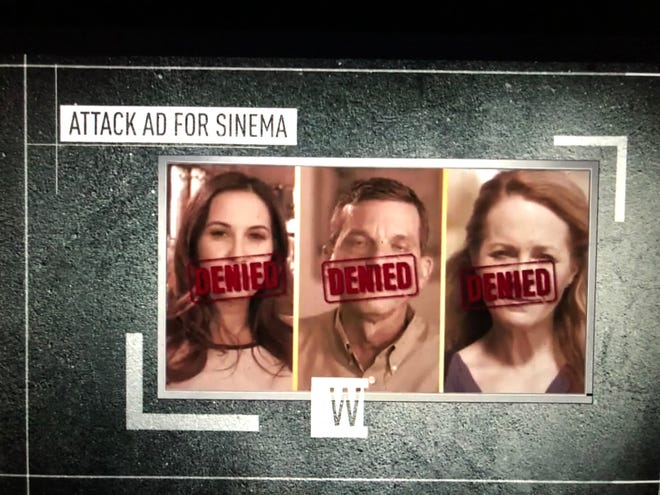 Image of an attack ad that aired during the Arizona Cardinals game on Oct. 7, 2018.