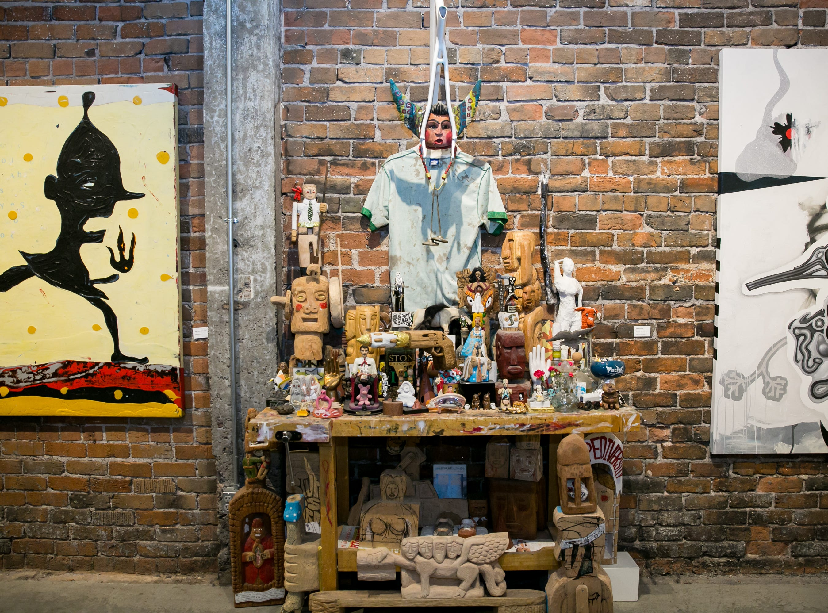 This altar was a conversation starter during Chaos Theory 19 at Legend City Studios during First Friday on October 5, 2018.