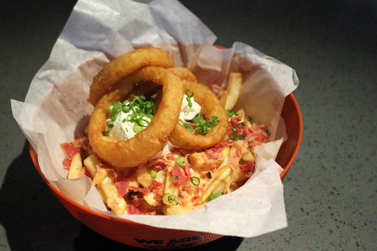 """Colossal Loaded Rings are """"good old stadium food,"""" according to Talking Stick Resort Arena Executive Chef Eileen Aguilera."""
