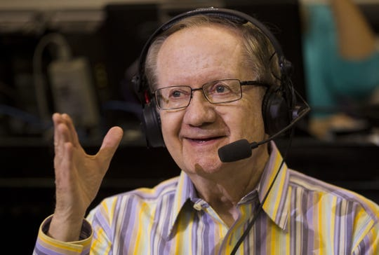 Suns radio play-by-play announcer Al McCoy smiles before a game in 2013.