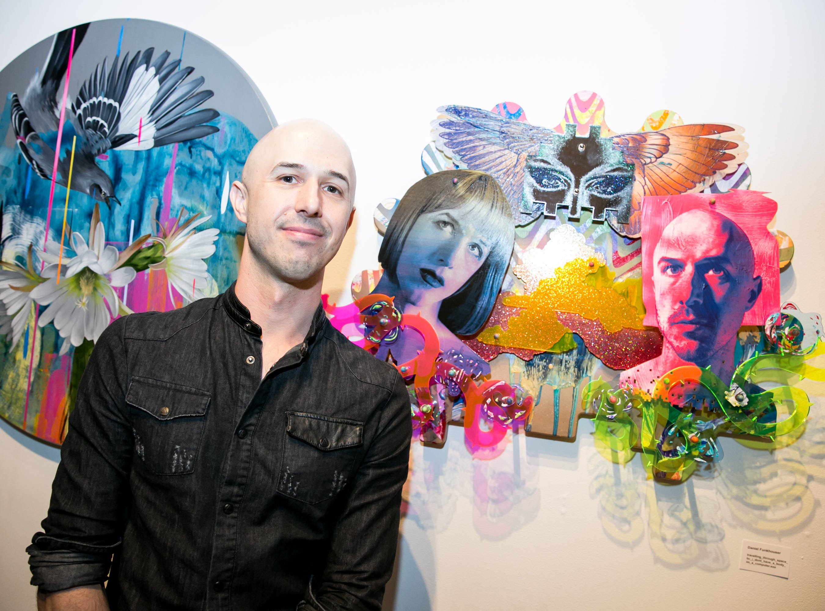 Daniel Funkhouser shows two sides of himself at Chaos Theory 19 at Legend City Studios during First Friday on October 5, 2018.