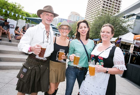 This group looked fabulous during Downtown Phoenix Oktoberfest at CityScape on Saturday, October 6, 2018.