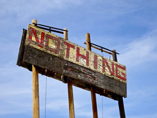 Located on U.S. 93 between Wickenburg and Wikieup, Nothing is now a ghost town.