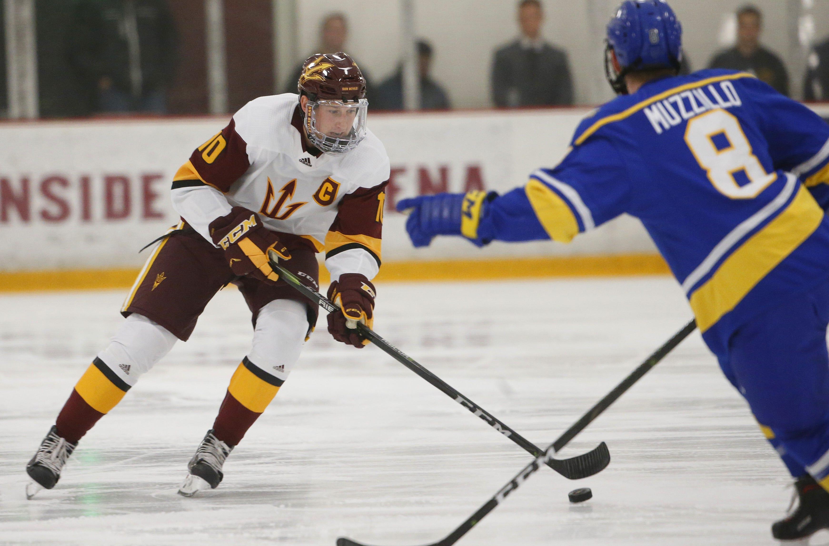 Arizona State's Johnny Walker Leads College Hockey In Goal Scoring