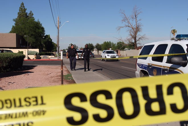 Phoenix officers were on the scene of an officer-involved shooting on Oct. 8, 2018.