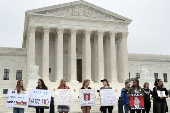 Protestan afuera de la Corte en N.Y.