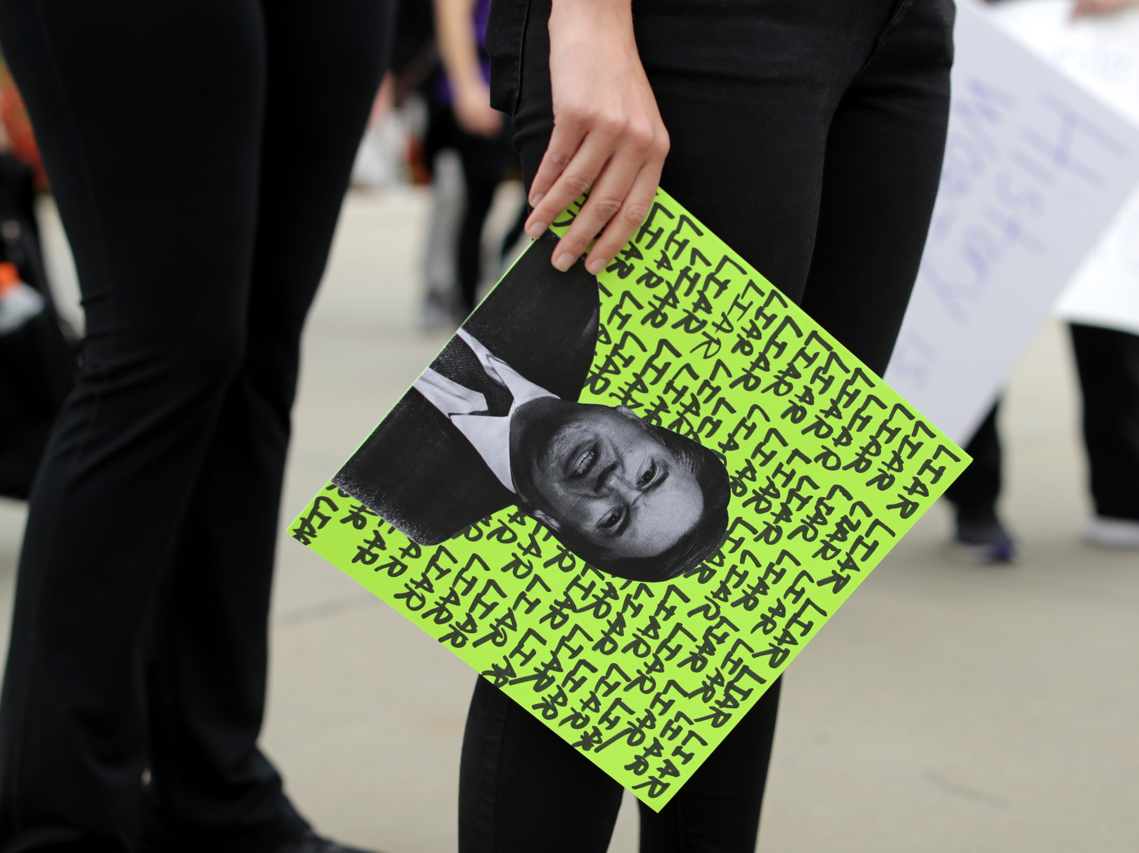 WASHINGTON, DC - OCTOBER 06: Protesters begin to gather outside the Supreme Court to rally against the confirmation of associate justice nominee Judge Brett Kavanaugh October 06, 2018 in Washington, DC. The Senate is scheduled to vote on Kavanaugh's confirmation later in the day. (Photo by Chip Somodevilla/Getty Images)