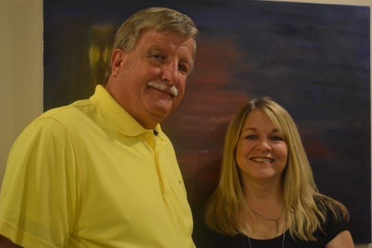 John Fletcher and Brenda Cronin pose outside the Mental Health and Recovery Board office in the Sutton Center in Port Clinton. Fletcher is the board chairman, and Brenda Cronin is the group's executive director.