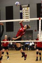 New Life Christian Academy volleyball player Emmaline Davey.
