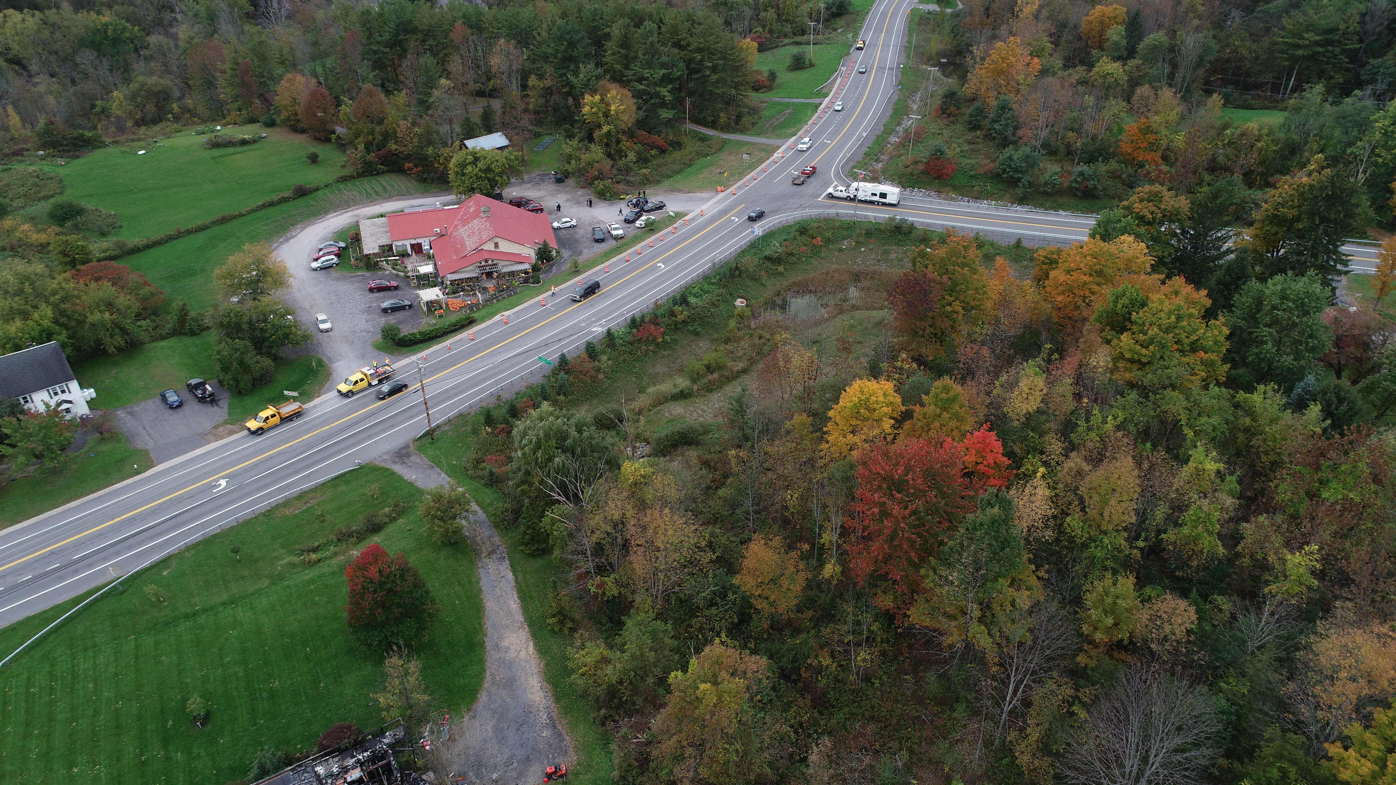 Video: Drone view of Schoharie accident site
