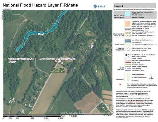 Hellam Township Flood Plain Map Page 001