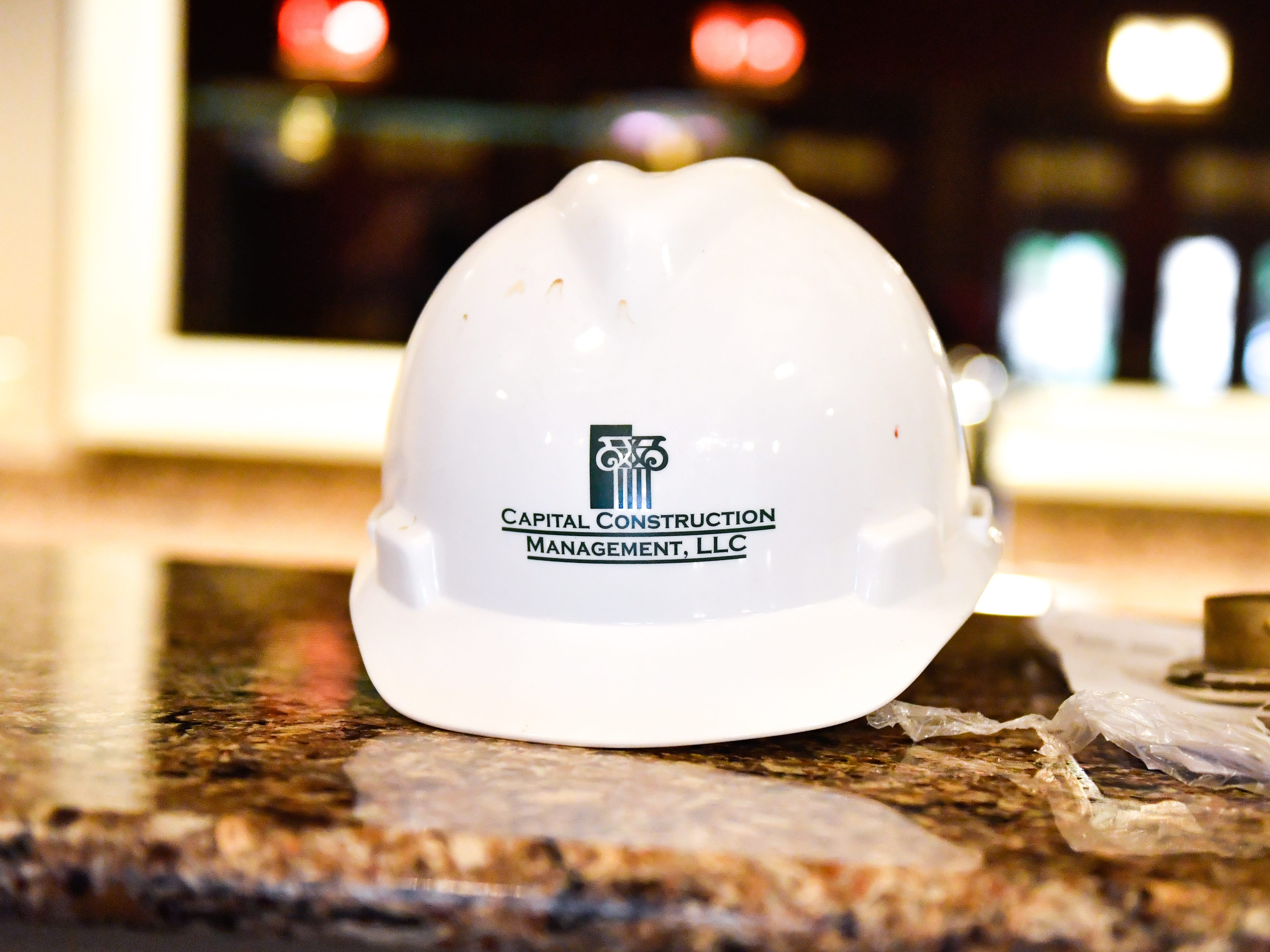 All workers wear construction hats to prevent head injuries while renovating, October 5, 2018.