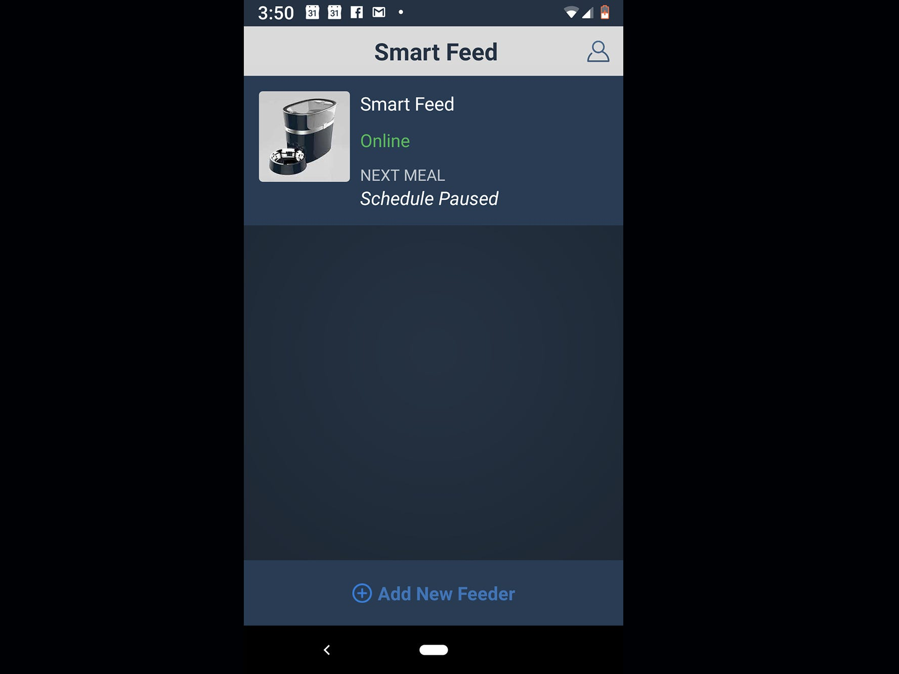 The PetSafe Smart Feed Automatic Dog and Cat feeder app can control several feeders if you happen to have a zoo.