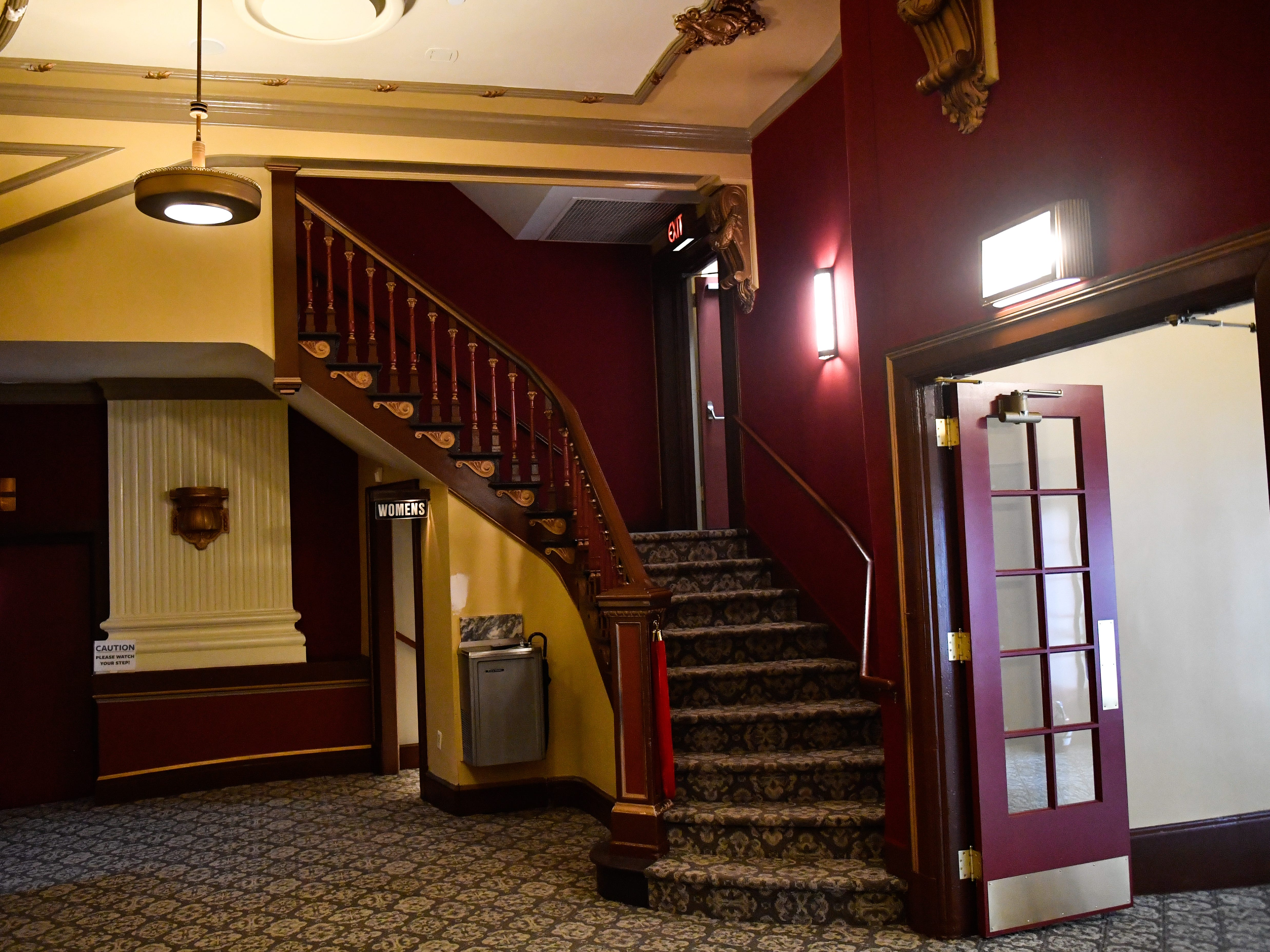 The stairway that leads to the Capitol Theatre is now completely renovated and ready for patrons, October 5, 2018.