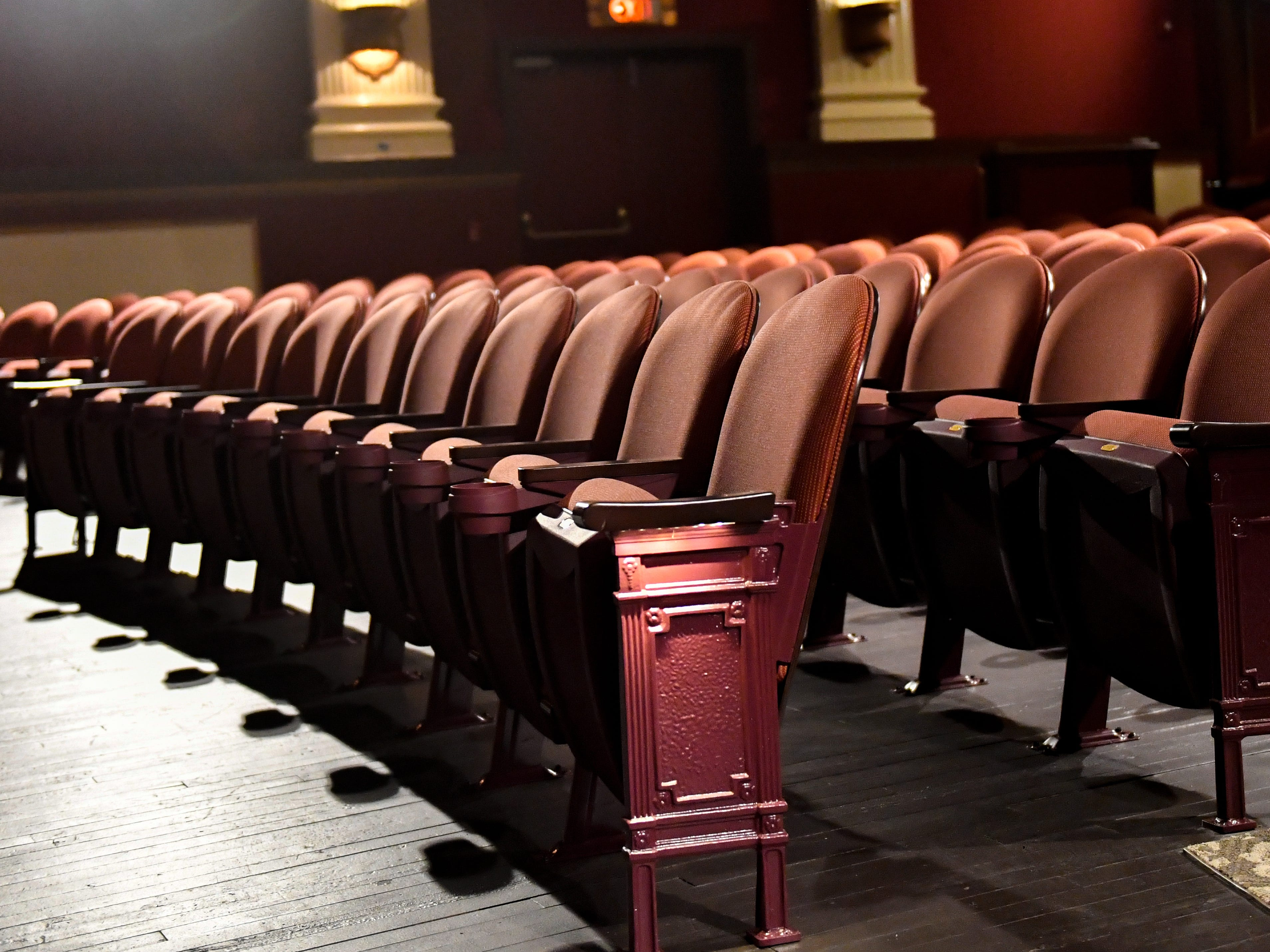 New seating is among the many things added in the renovations of the Capitol Theatre, October 5, 2018. The Theatre will hold 450-seats in total, with improved  sight-lines and additional arm and foot space between each chair.