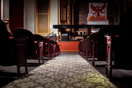 The new carpet lines all walkways in the Capitol Theatre, October 5, 2018.