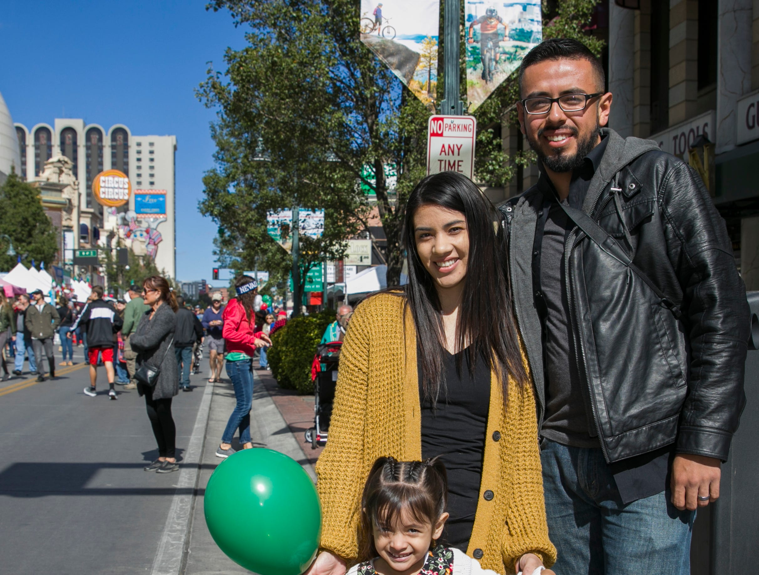 The Galvez family during the Italian Festival held in downtown Reno outside of the Eldorado Hotel and Casino on Sunday afternoon, October 7, 2018.