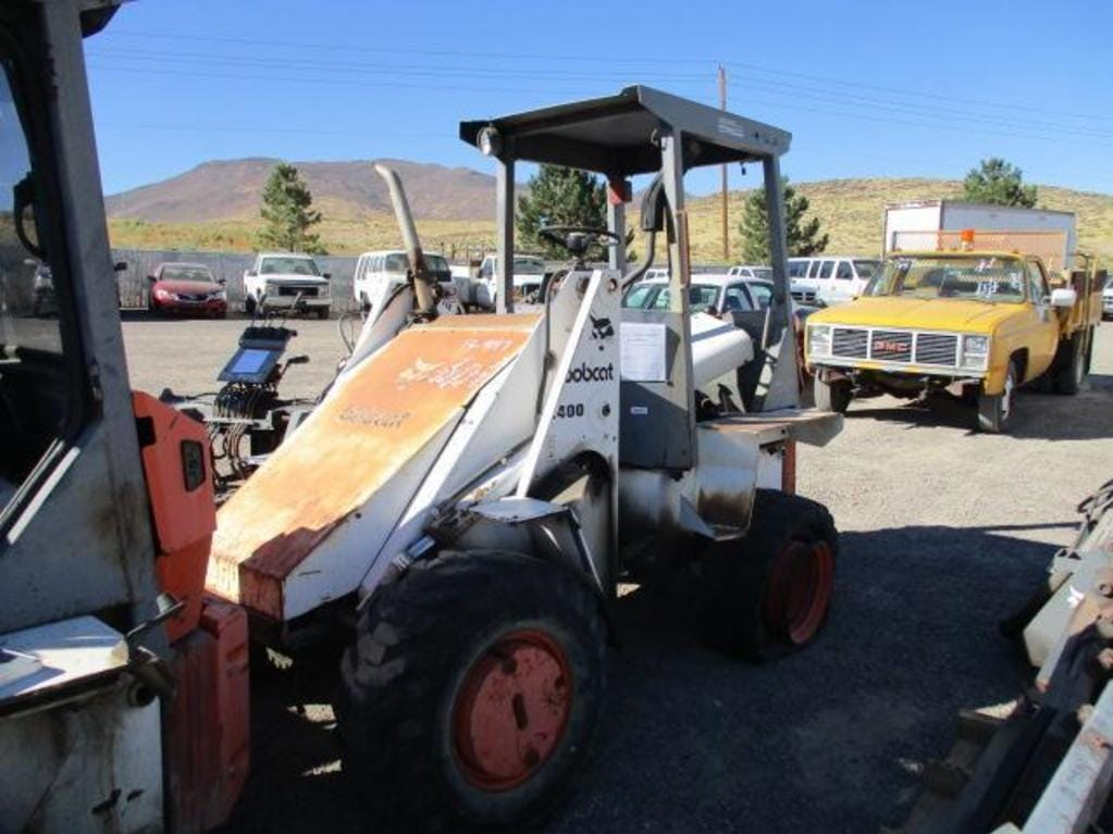 A Bobcat 2400 loader is for sale Saturday, Oct. 13, 2018 at the Nevada government surplus sale at the Tahoe-Reno Industrial Center east of Sparks.