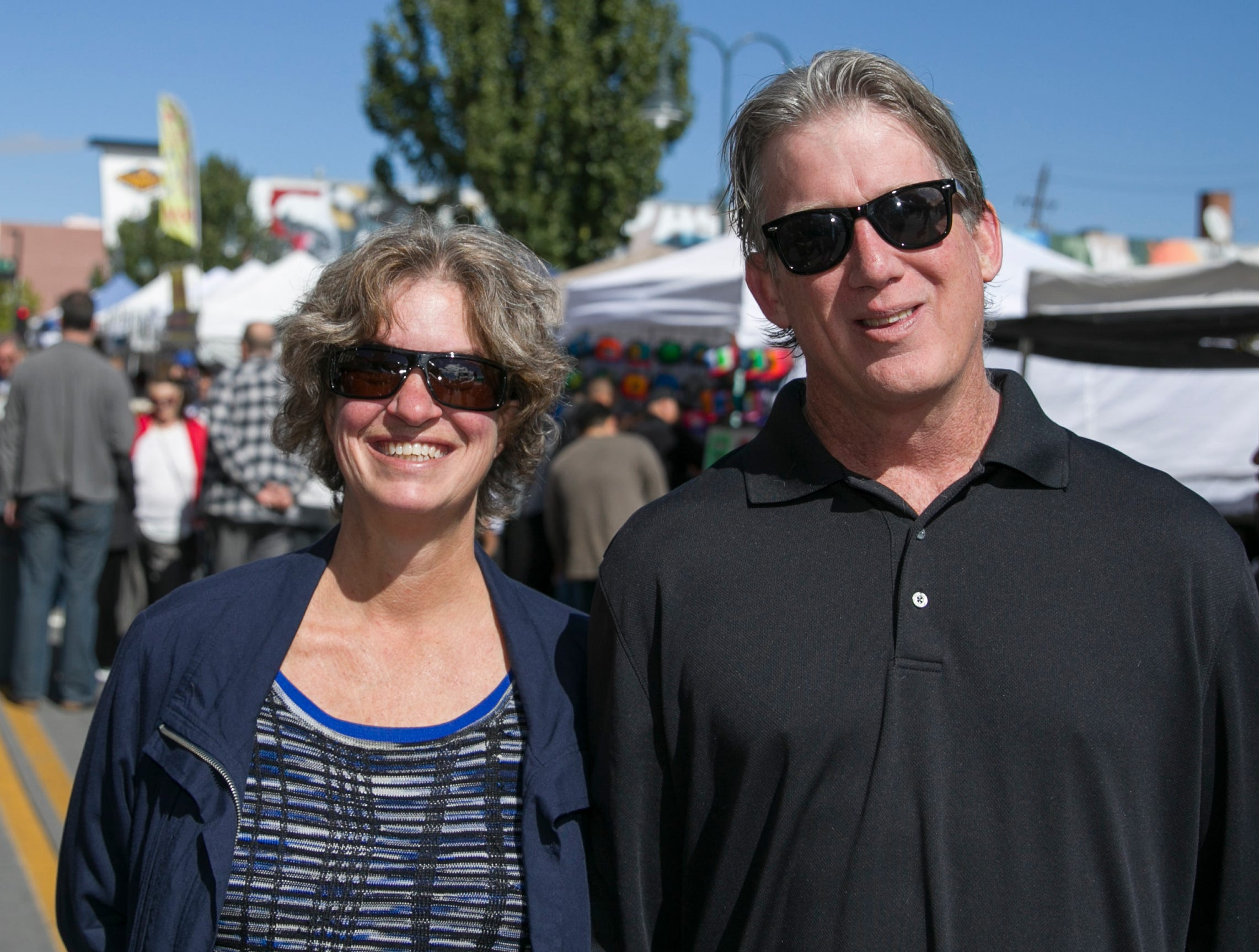 Debbi and Patrick during the Italian Festival held in downtown Reno outside of the Eldorado Hotel and Casino on Sunday afternoon, October 7, 2018.